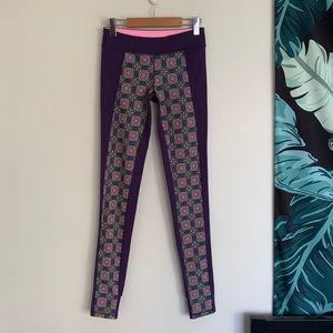 Ivivva / lululemon Purple Printed Stirrup Leggings